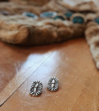 White Buffalo Oval Cluster Earrings