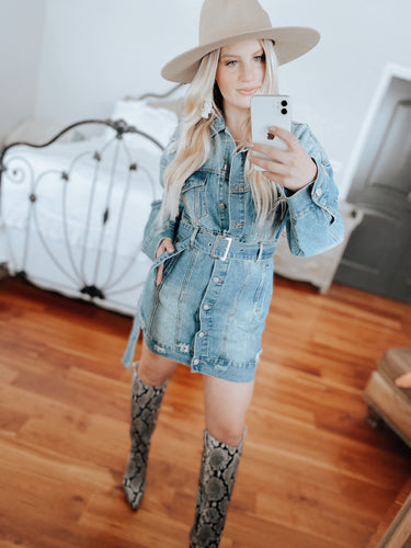 Free People Inspired Denim Dress