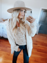 Oatmeal Cable Knit Cardigan