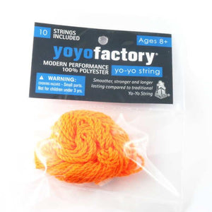 10 Pack Polyester YoYo String Orange