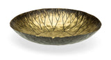 Etched and Hammered Brass Smudge Bowl