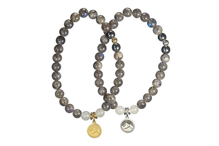 Believe Your Truth. Tigers Eye and Black Wood, Solar Plexus Chakra Bracelet