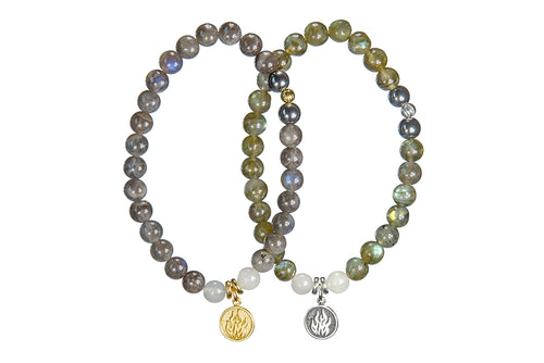 Labradorite and Fire Sacred Element Bracelet