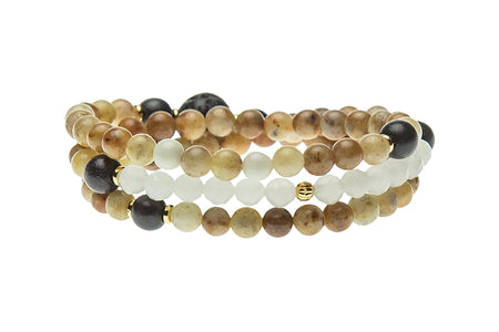 Stacked Wrist Mala or Necklace, Carnelian – Sacral Chakra