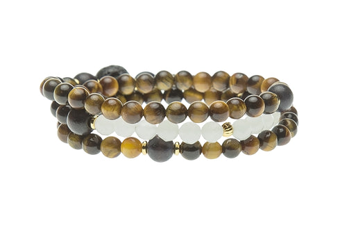 Bliss Wrist Wrap or Necklace, Tigers Eye - Solar Plexus Chakra