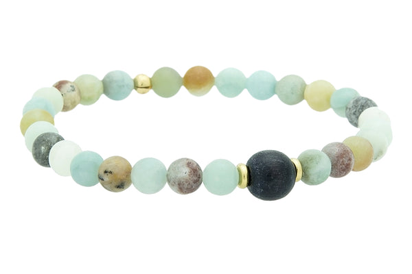 Mini Amazonite Throat Chakra Bracelet