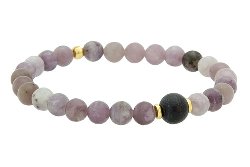 Mini Lilac Stone Third Eye Chakra Bracelet