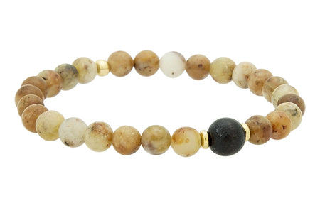 Stacked Gold or Silver and Turquoise, Throat Chakra Bracelet