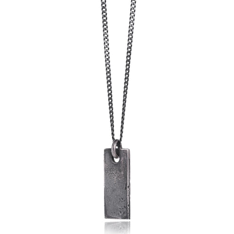 Dog tag Pendant Oxidized Necklace