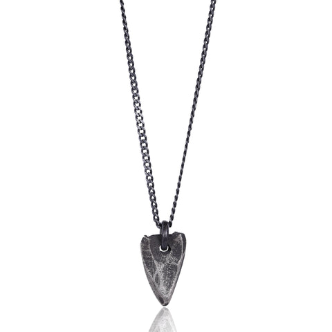 Lance Oxidized Pendant Necklace