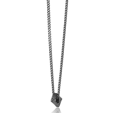 Rock Bead Oxidized Necklace