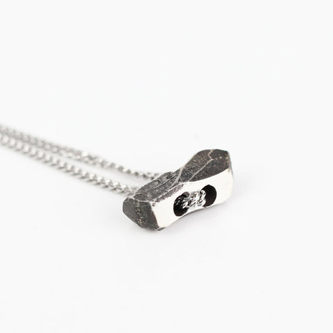 Sterling Silver Toggle Necklace