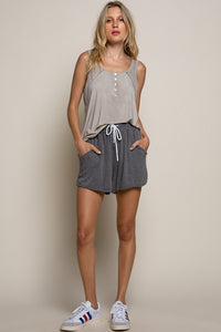 Taupe Button Up Tank