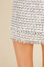 Monochrome Tweed Skirt