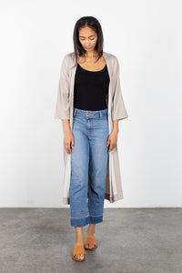 Taupe Knit Duster