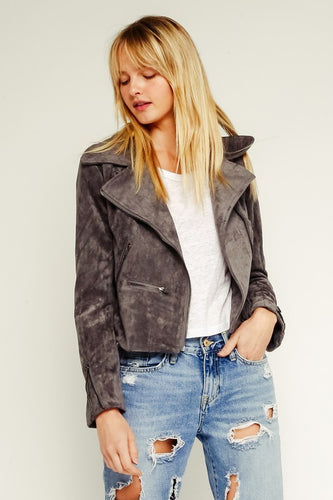 Iron Faux Suede Jacket