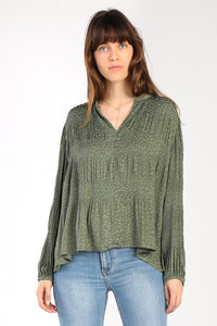 Olive Star Blouse