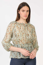 Sheer Sage Floral Blouse