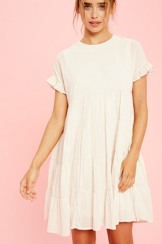 Natural Cotton Babydoll Dress