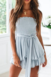 Sky Blue Strapless Dress