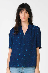 Navy Star Blouse