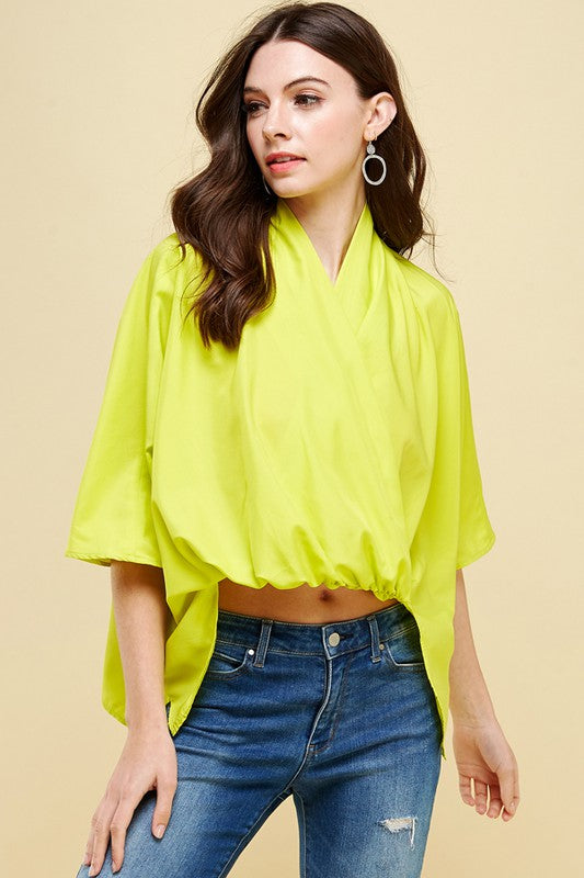 Lime Flowy Top