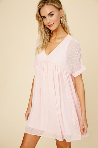Swiss Dot Babydoll Dress