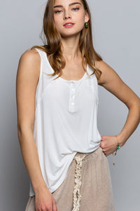 Ivory Button Up Tank