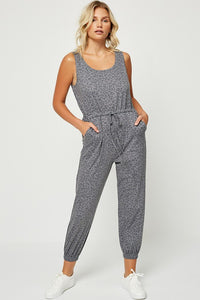 Charcoal Leopard Jumpsuit
