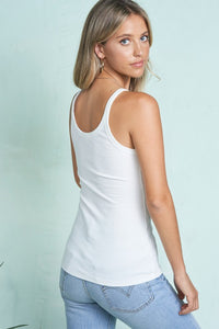 Scoop Ribbed Tank