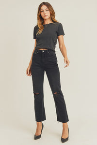 Straight Leg Black Denim