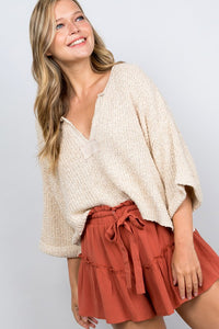 Oatmeal Cropped Sweater