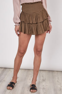 Smocked Ruffle Skort (6 COLORS)