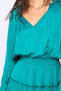 Teal Shine Dress