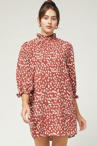 Marsala Spotted Dress