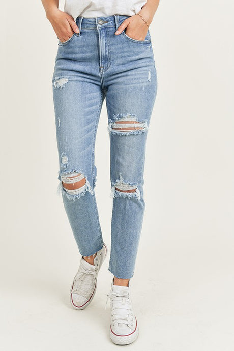 Light Wash Relaxed Skinny Denim