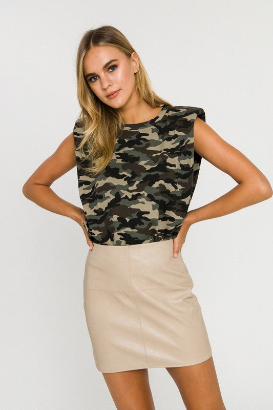 Camo Shoulder Pad Tee