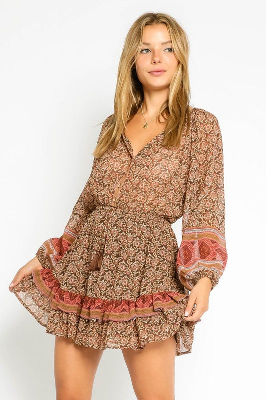 Brown Tapestry Dress