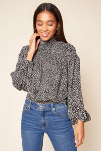 Bondi Leopard Smocked Top