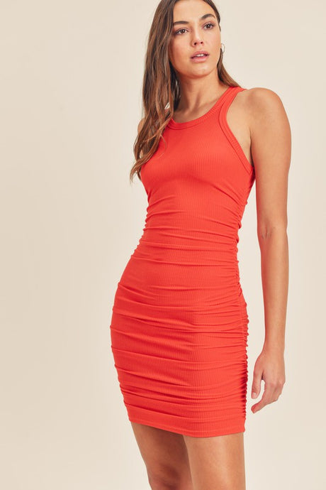 Racerback Ruched Dress