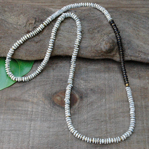 Howlite Bead Long Necklace