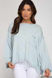 Misty Blue Sweater