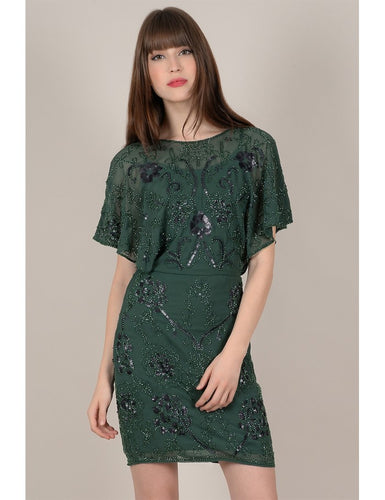 Fir Green Beaded Dress