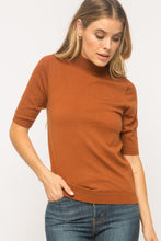 Rust Short Sleeve Sweater