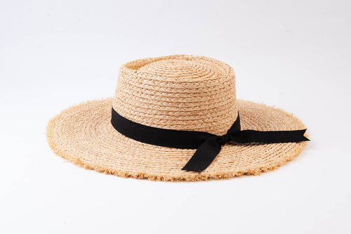 Raw Edge Straw Boater