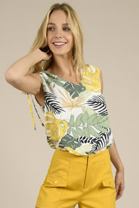 Tropical Leaf Blouse