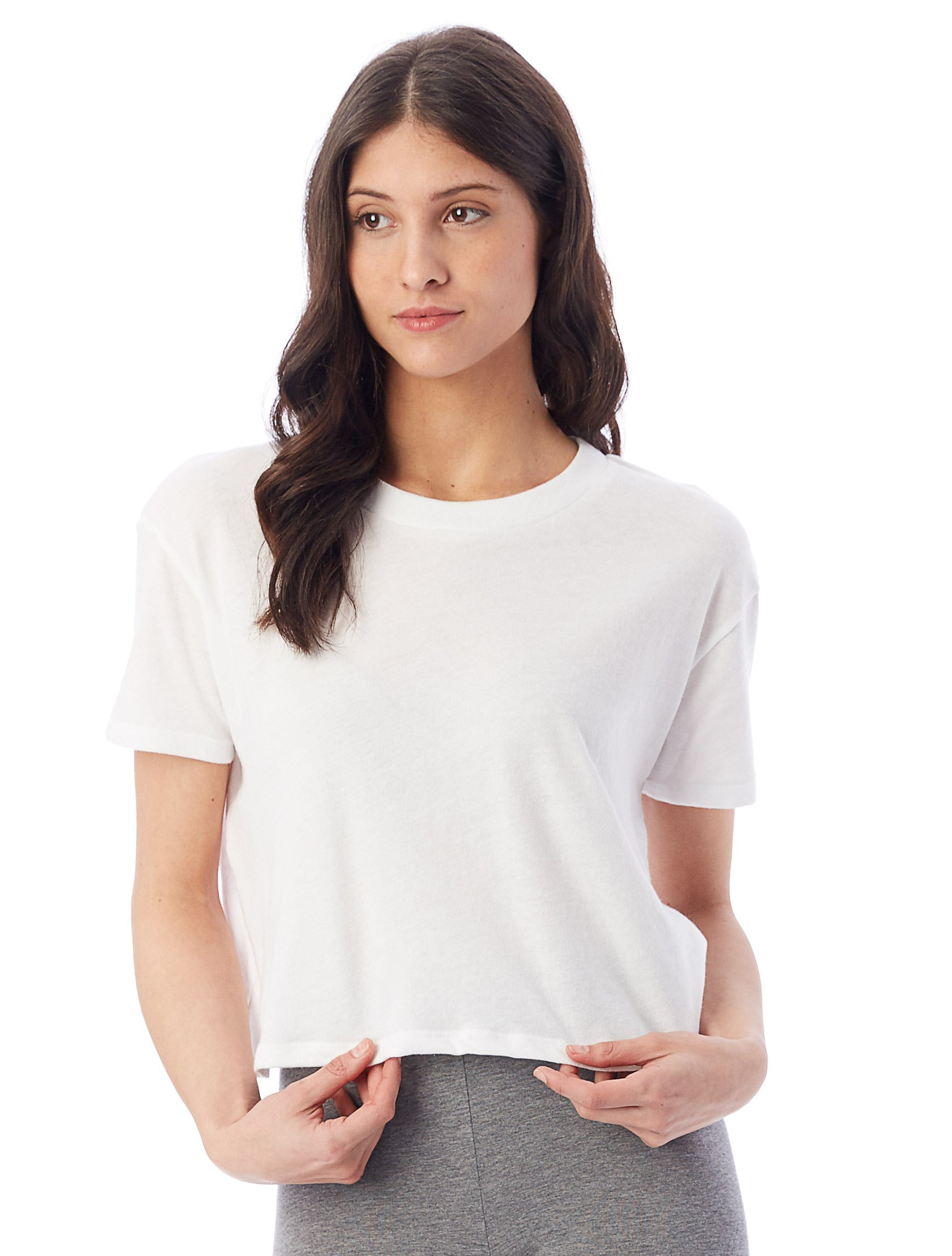 Headliner White Cropped Tee