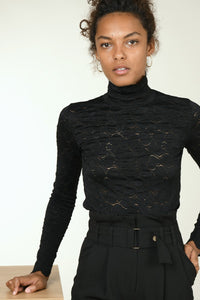 Scalloped Edge Turtleneck