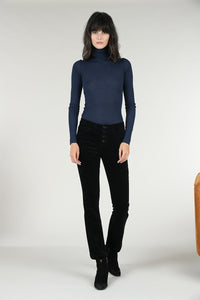 Navy Lightweight Turtleneck