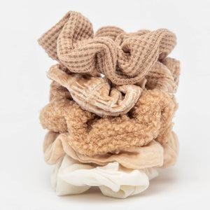 Textured Scrunchies (5pc)